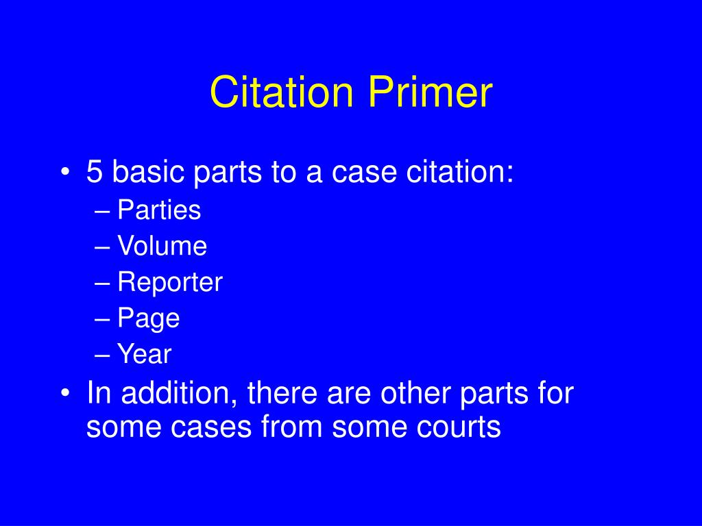 citation primer