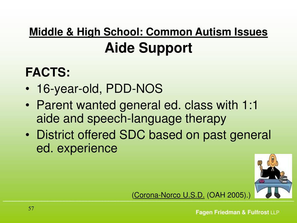 Middle & High School: Common Autism Issues