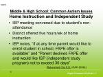 middle high school common autism issues home instruction and independent study50