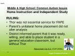 middle high school common autism issues home instruction and independent study51
