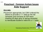 preschool common autism issues aide support23