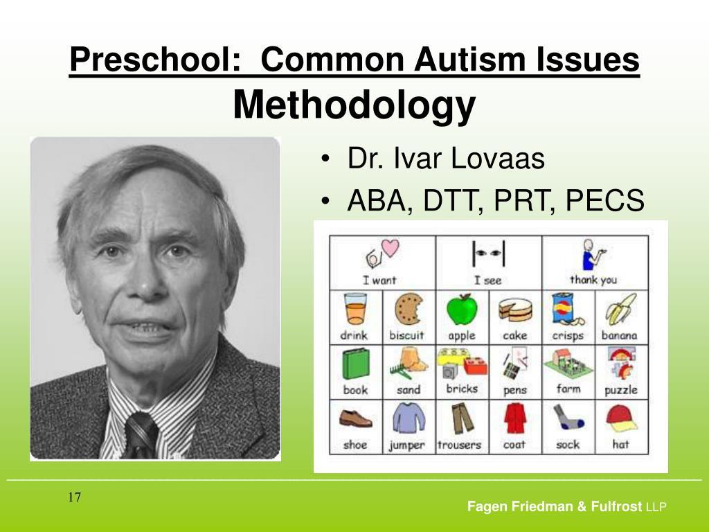 Preschool:  Common Autism Issues