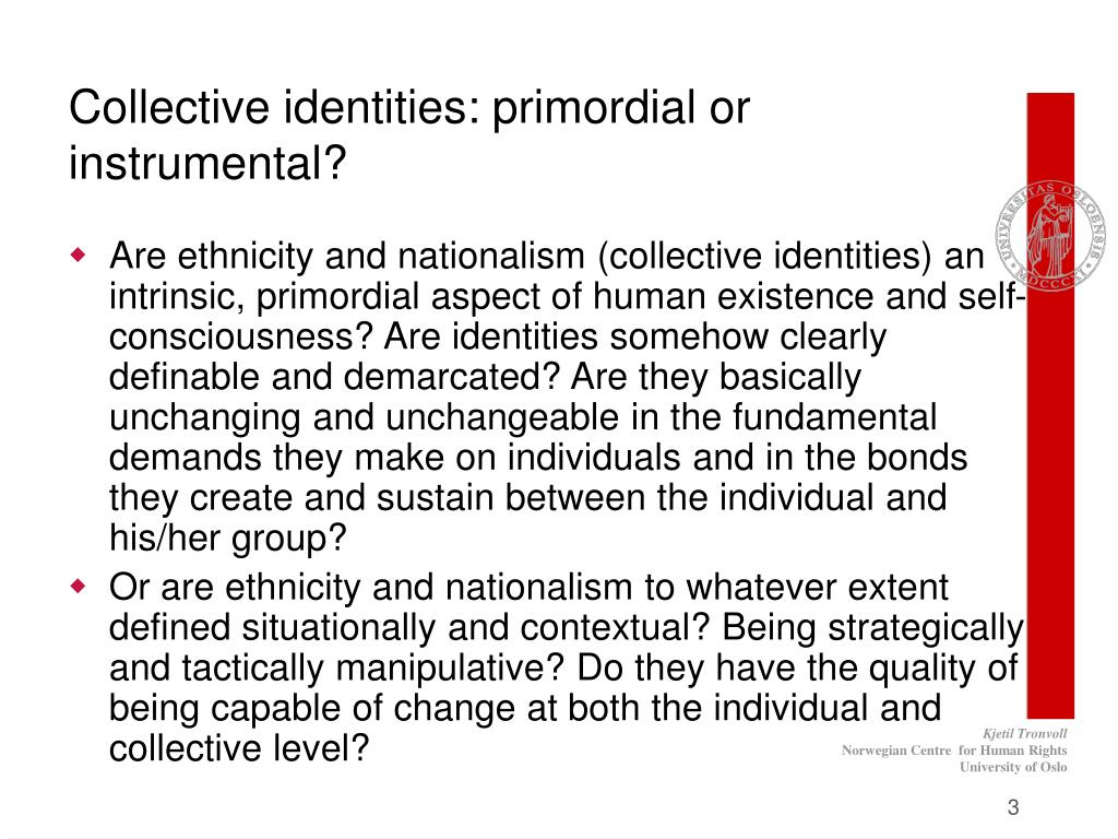 Collective identities: primordial or instrumental?