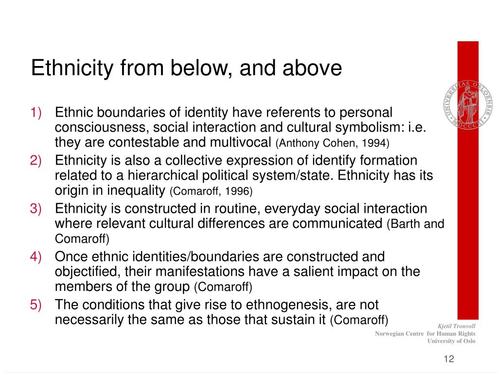 Ethnicity from below, and above