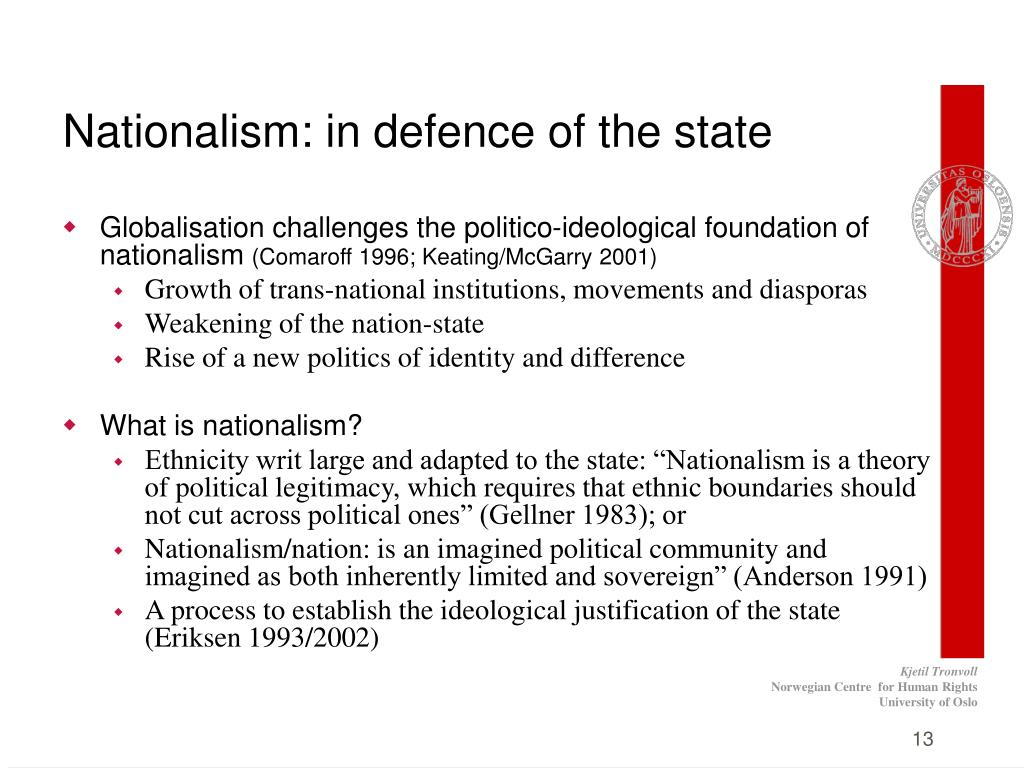 Nationalism: in defence of the state