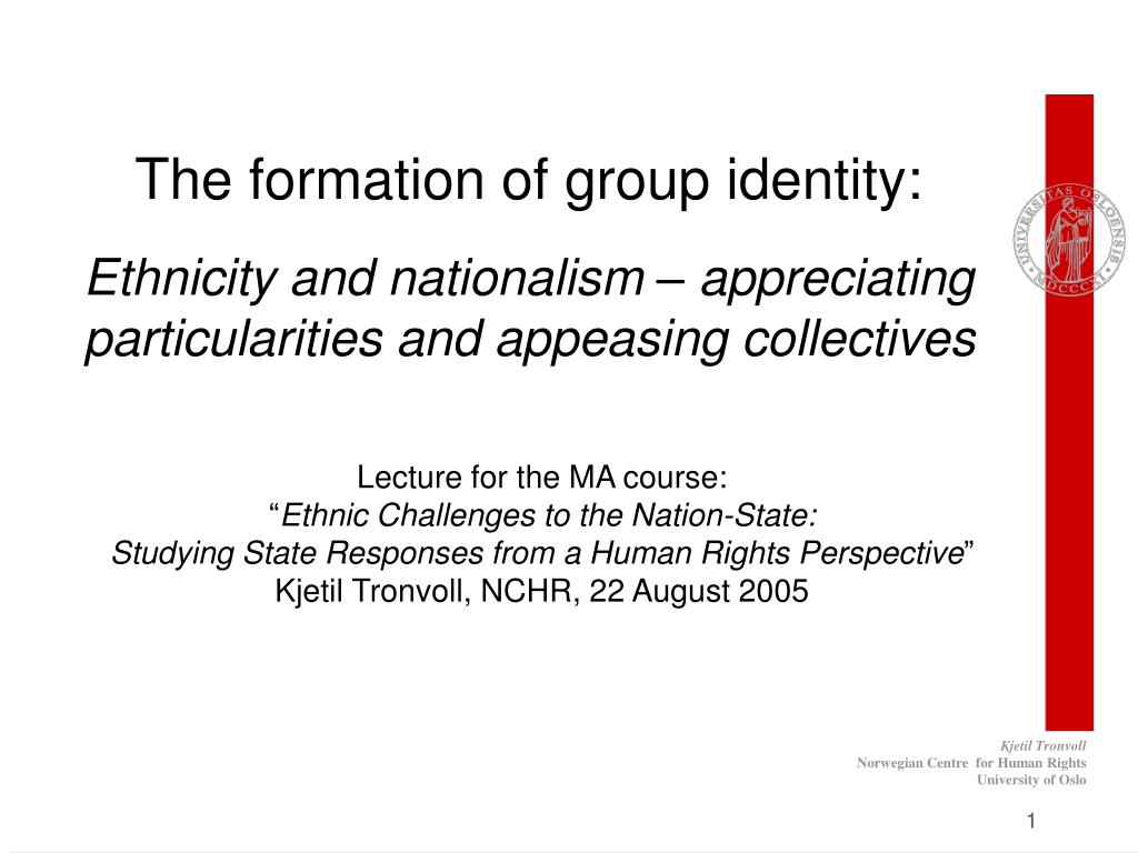 The formation of group identity: