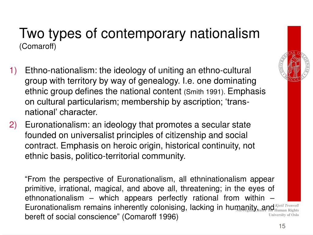 Two types of contemporary nationalism