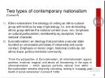 two types of contemporary nationalism comaroff