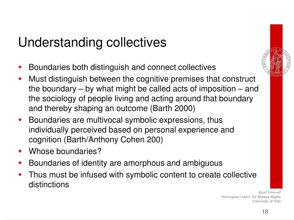 Understanding collectives