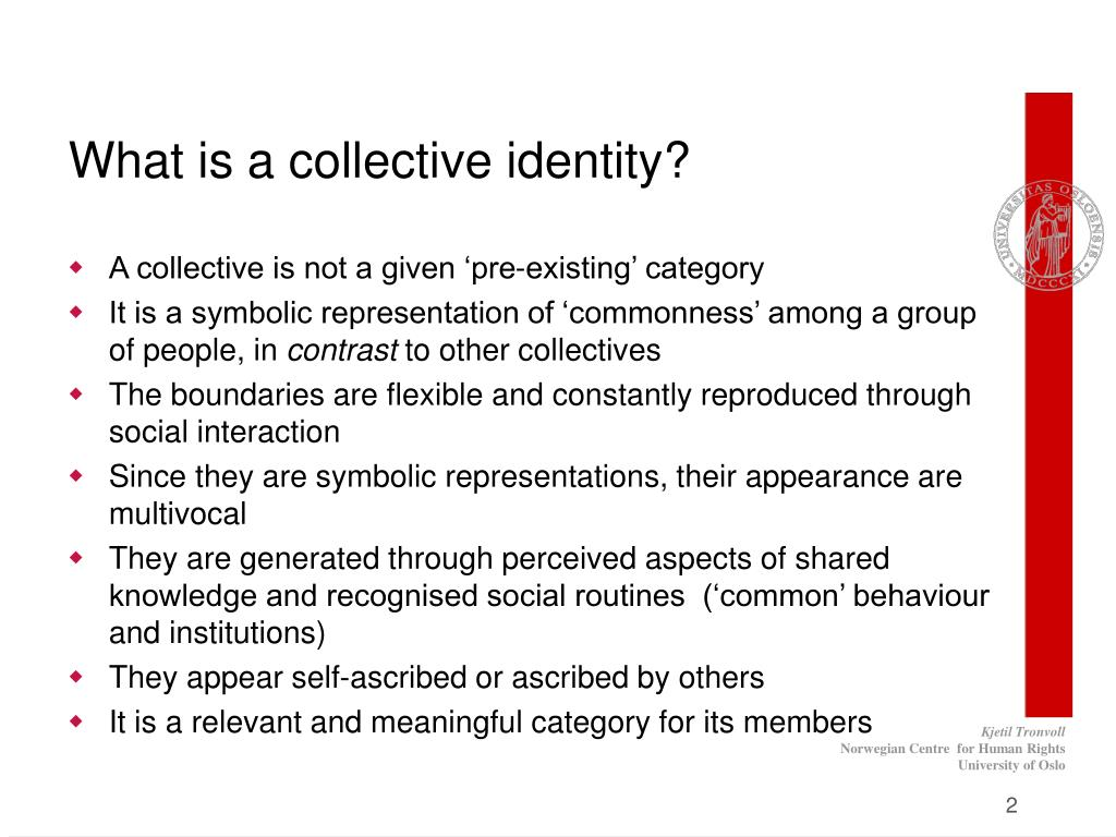 What is a collective identity?