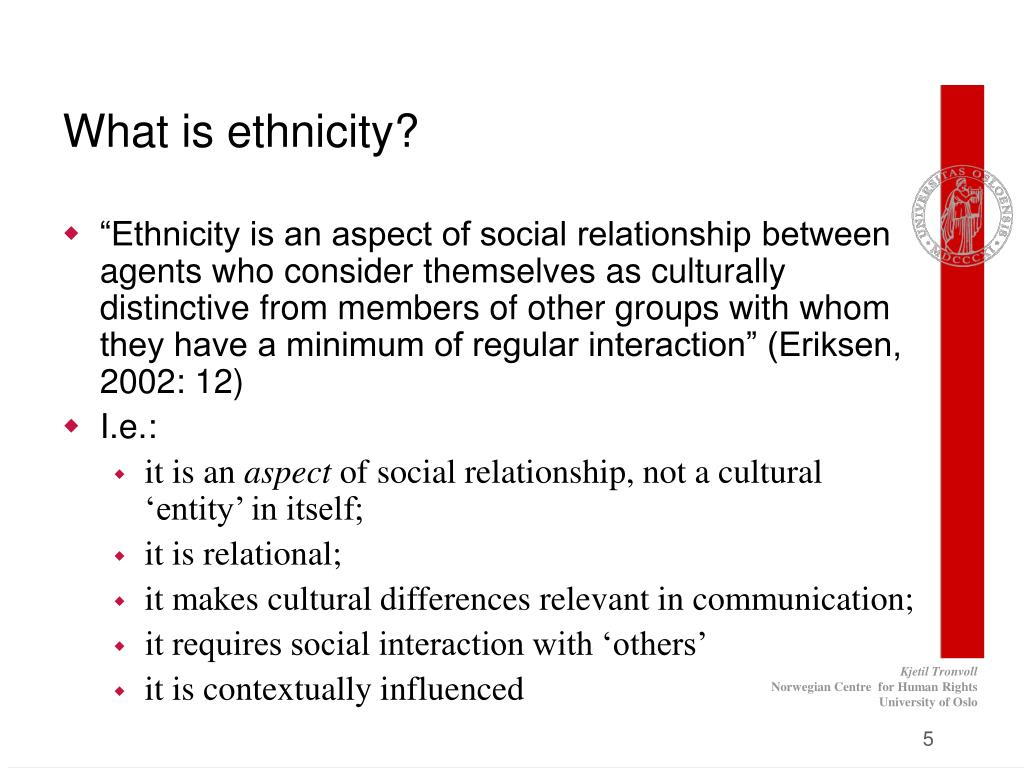 What is ethnicity?