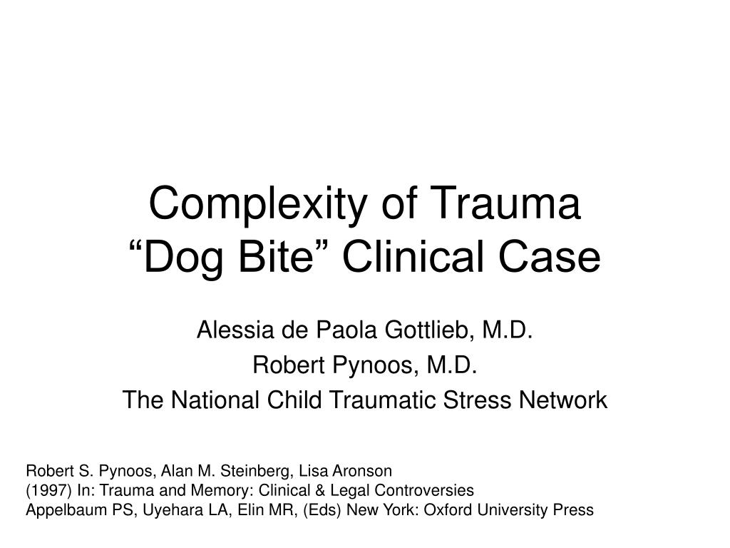 complexity of trauma dog bite clinical case