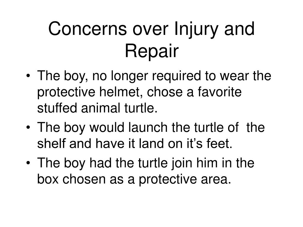 Concerns over Injury and Repair