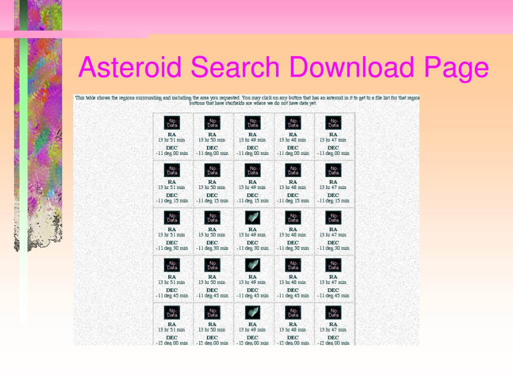 Asteroid Search Download Page