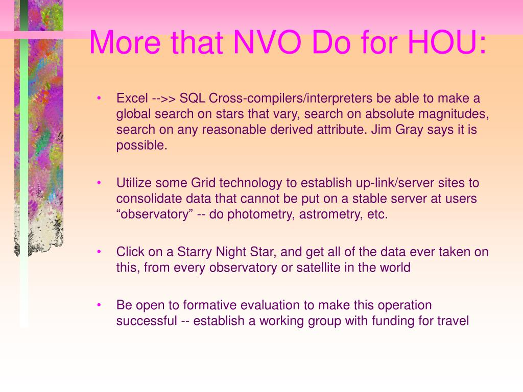 More that NVO Do for HOU:
