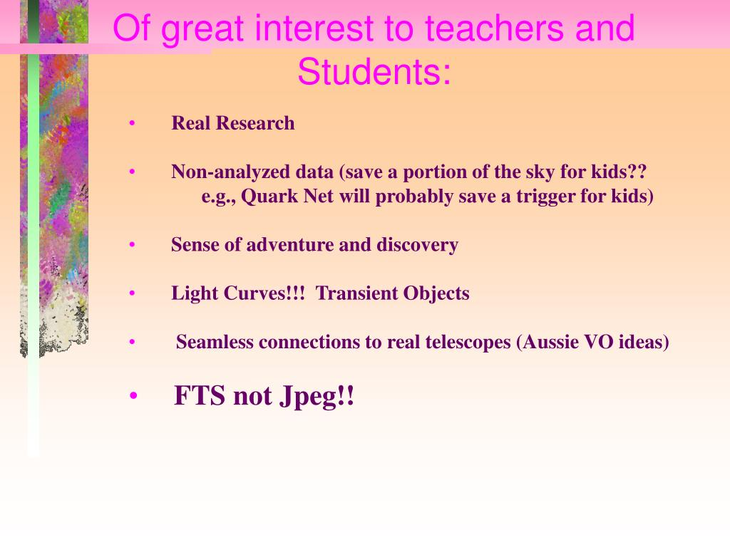 Of great interest to teachers and Students:
