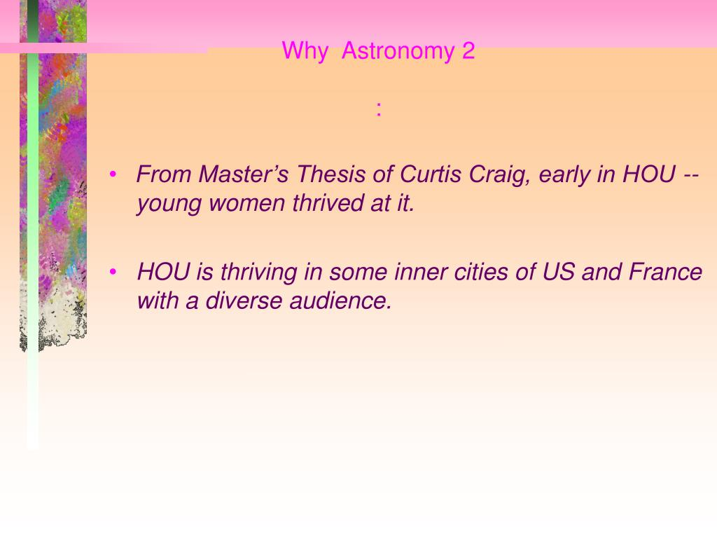 Why  Astronomy 2