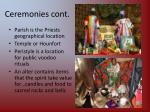 ceremonies cont