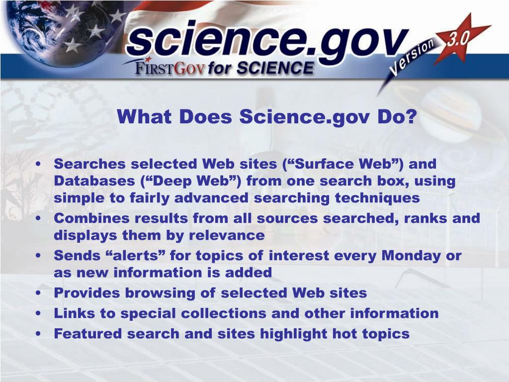 What Does Science.gov Do?