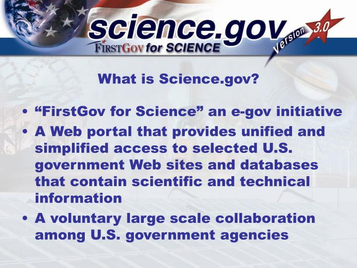 What is science gov