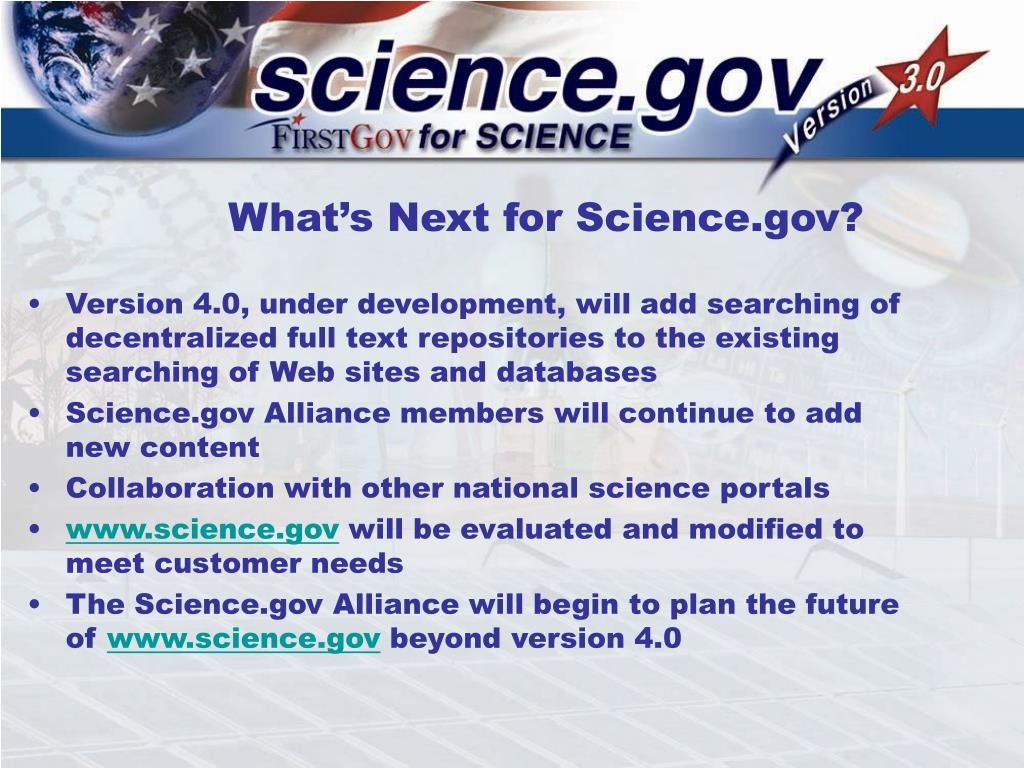 What's Next for Science.gov?