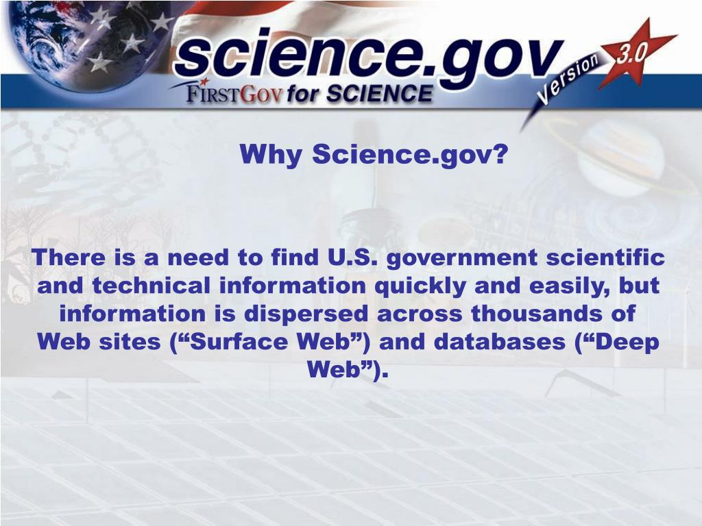 Why Science.gov?