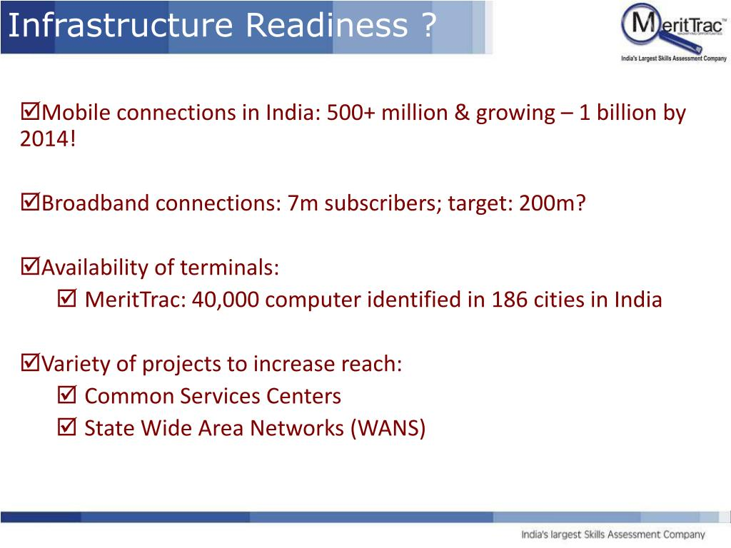 Infrastructure Readiness ?