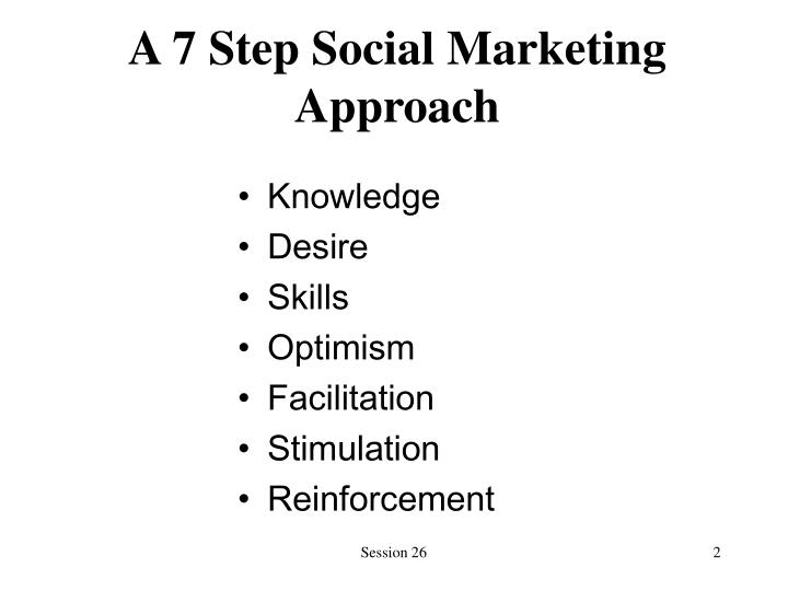 A 7 step social marketing approach