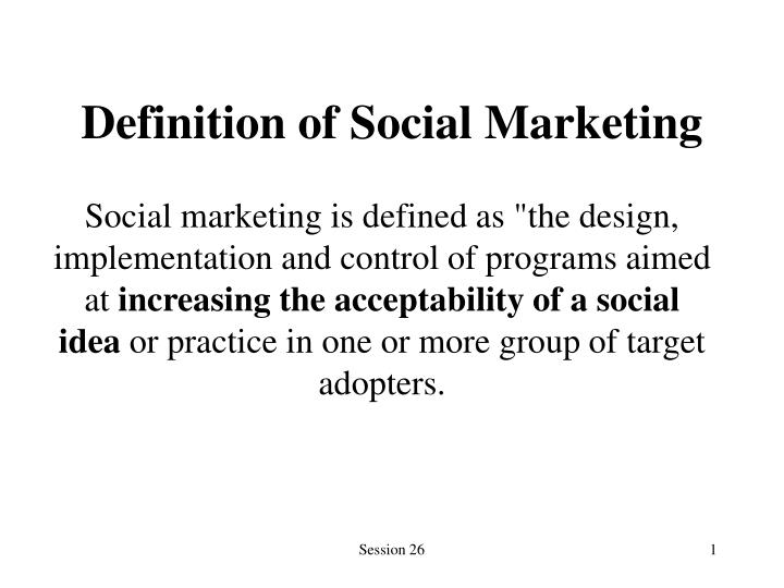 Definition of social marketing