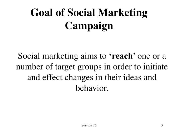 Goal of social marketing campaign
