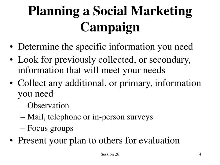 Planning a Social Marketing Campaign
