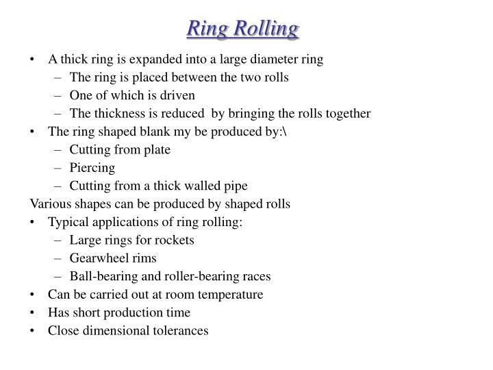 Ring Rolling