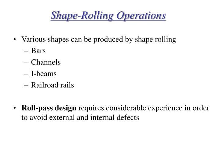 Shape-Rolling Operations