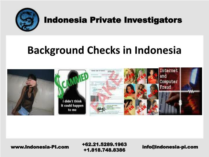 Background Checks in Indonesia