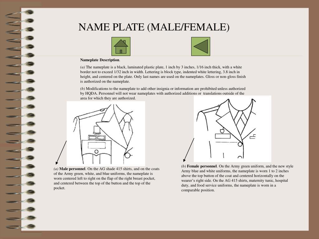 NAME PLATE (MALE/FEMALE)