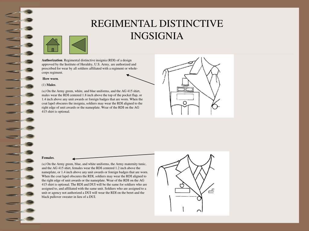 REGIMENTAL DISTINCTIVE INGSIGNIA