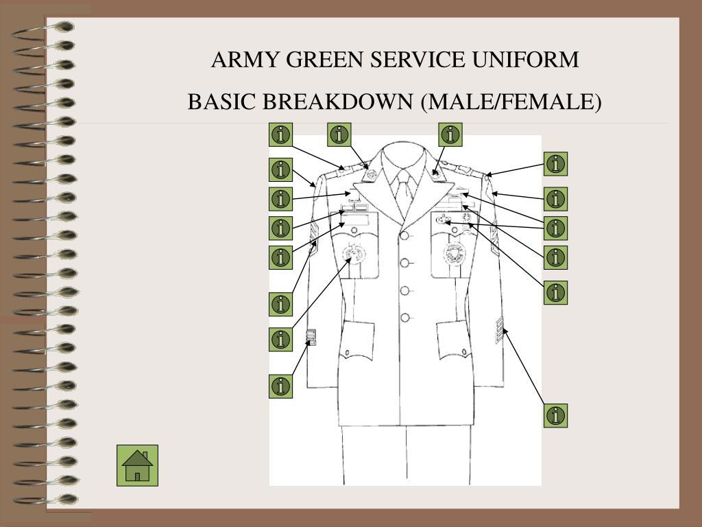 ARMY GREEN SERVICE UNIFORM