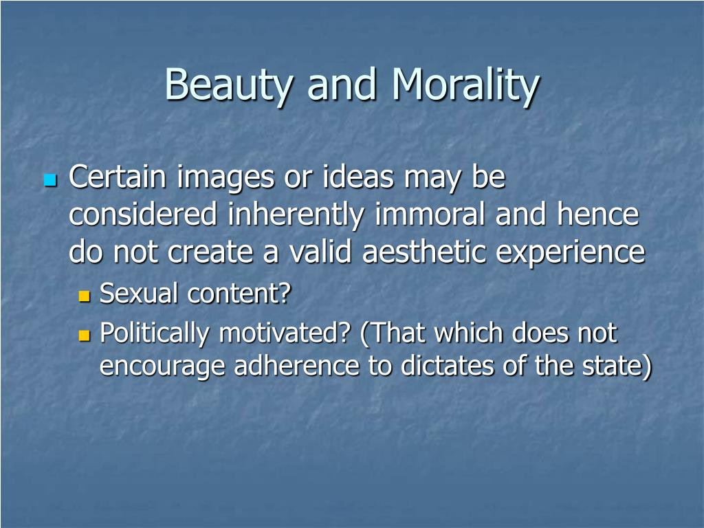 Beauty and Morality