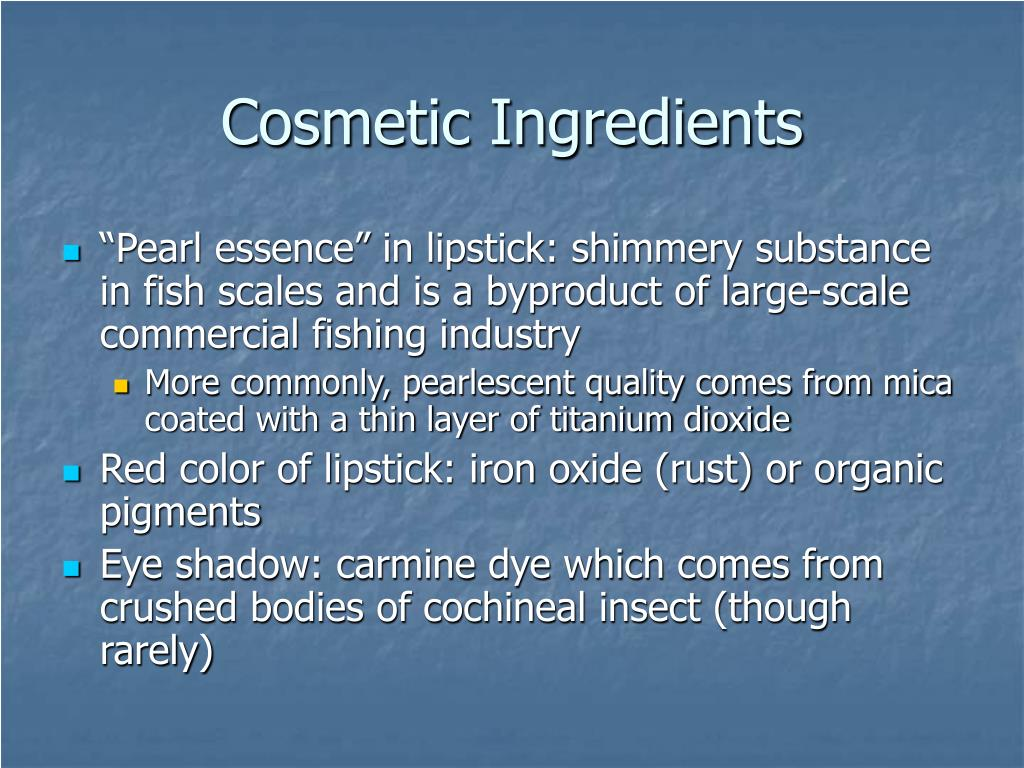 Cosmetic Ingredients