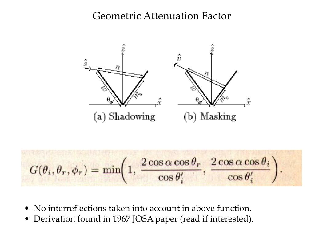 Geometric Attenuation Factor