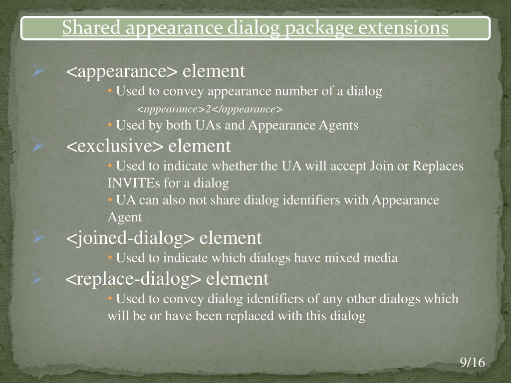 <appearance> element