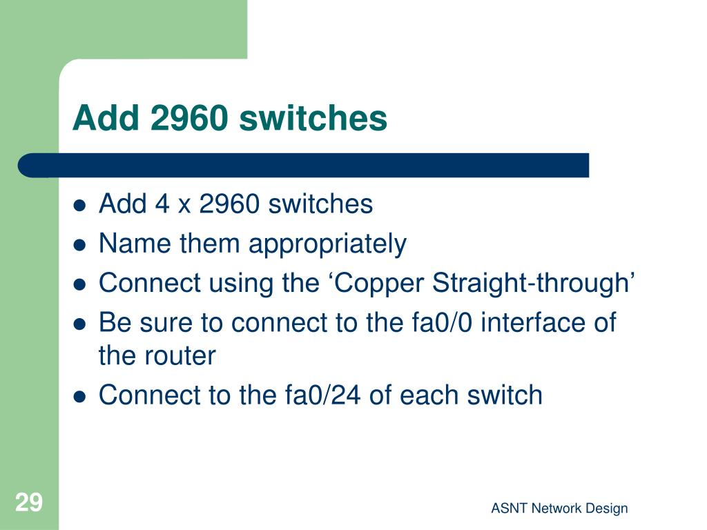 Add 2960 switches