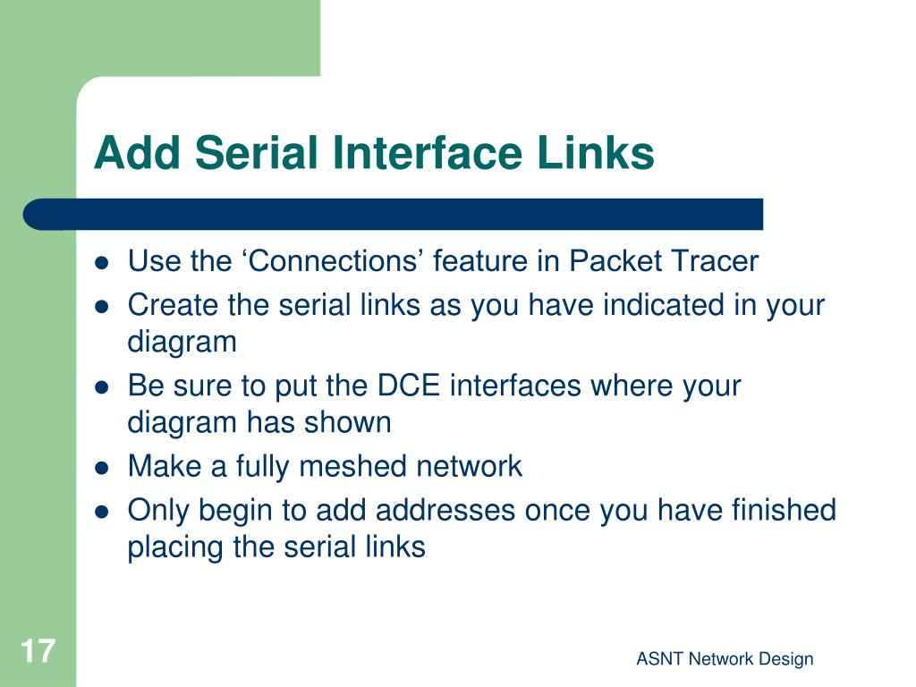 Add Serial Interface Links