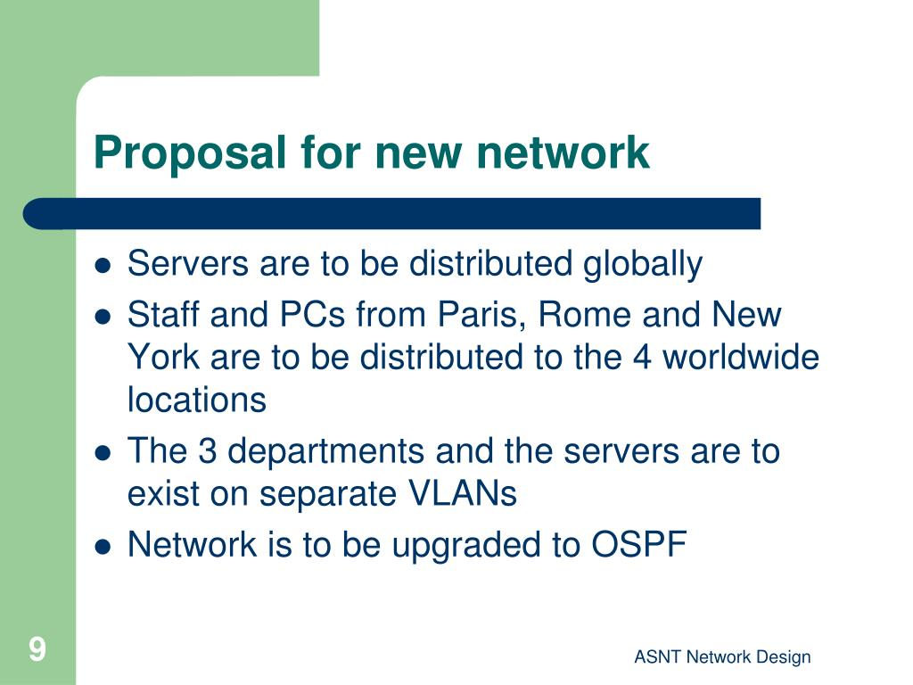 Proposal for new network