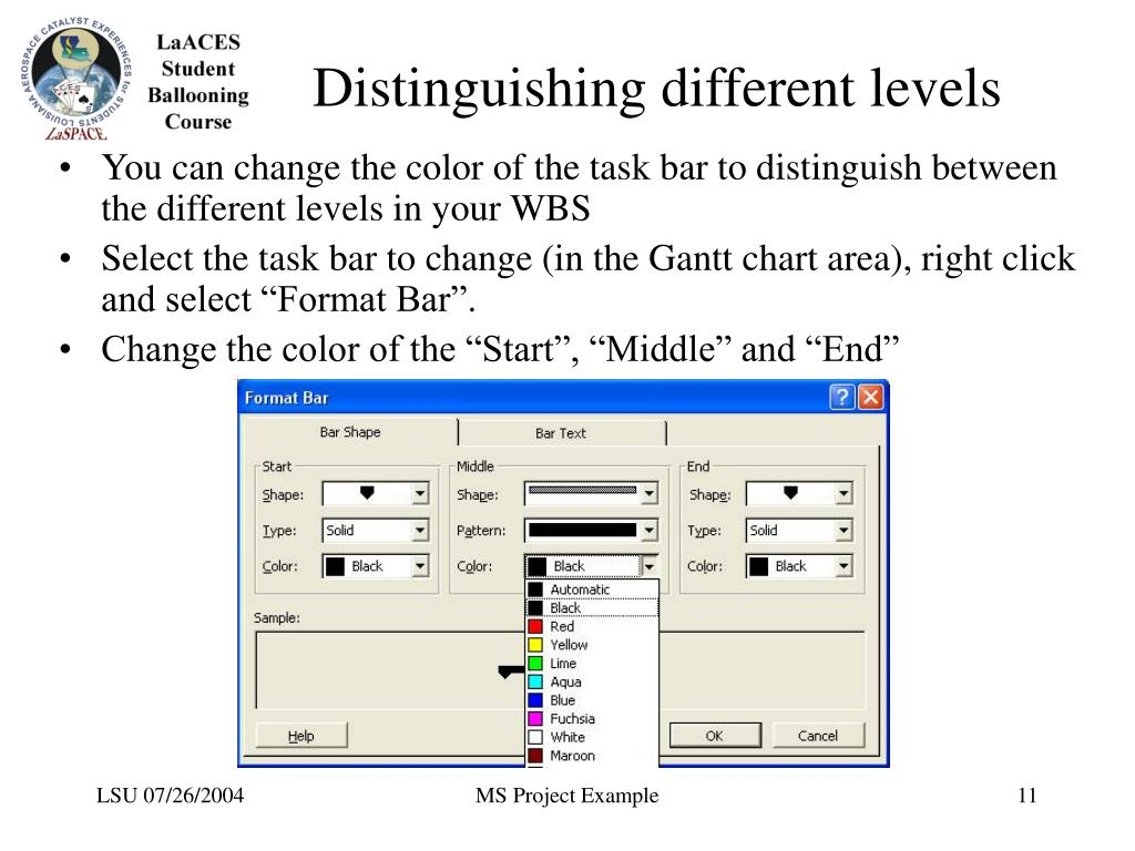 Distinguishing different levels