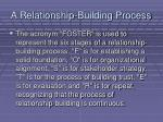 a relationship building process