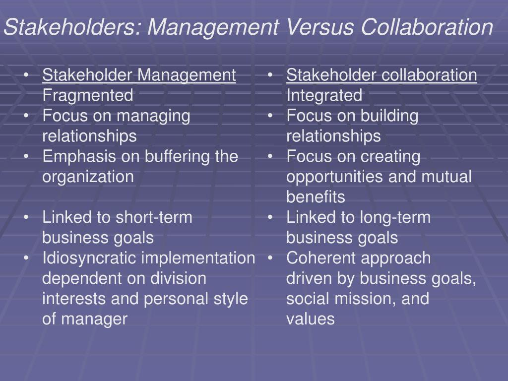 Stakeholders: Management