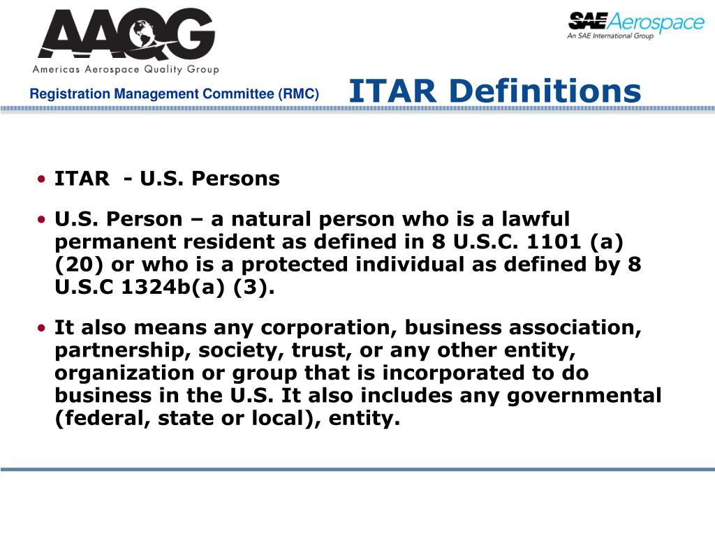 ITAR Definitions