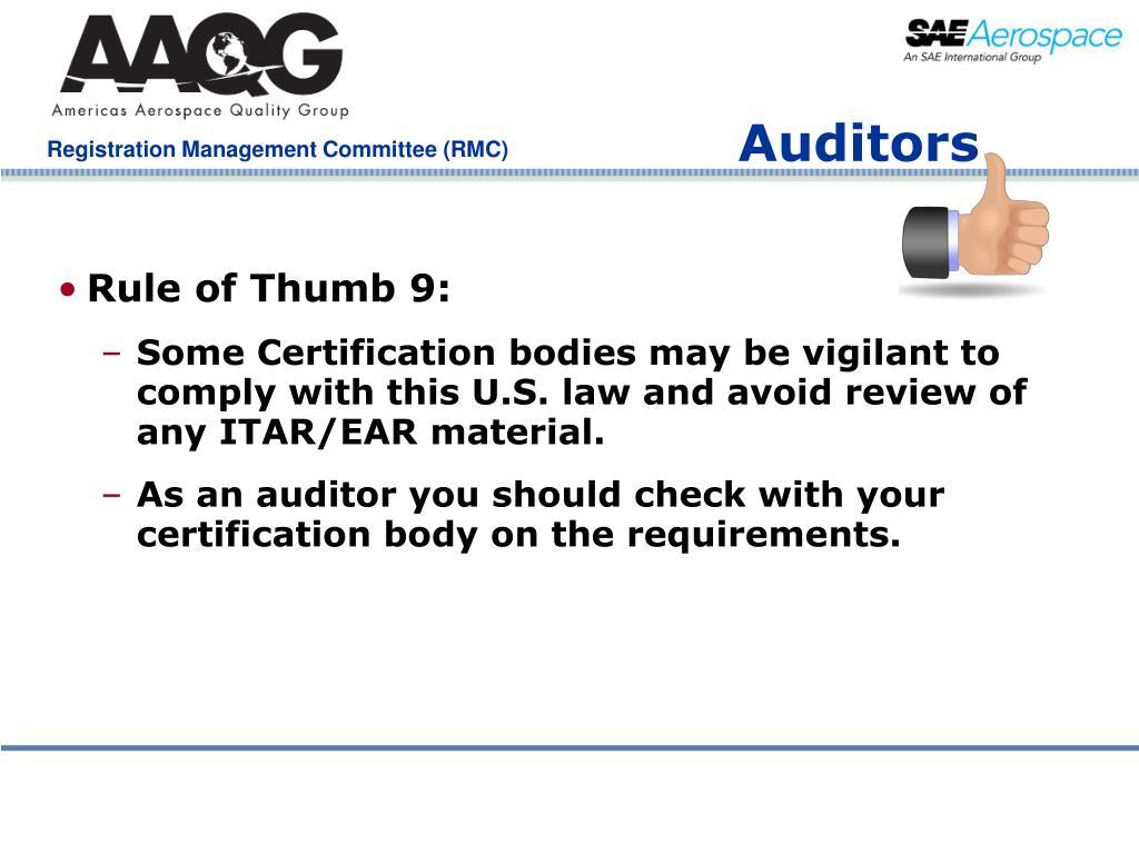 Rule of Thumb 9: