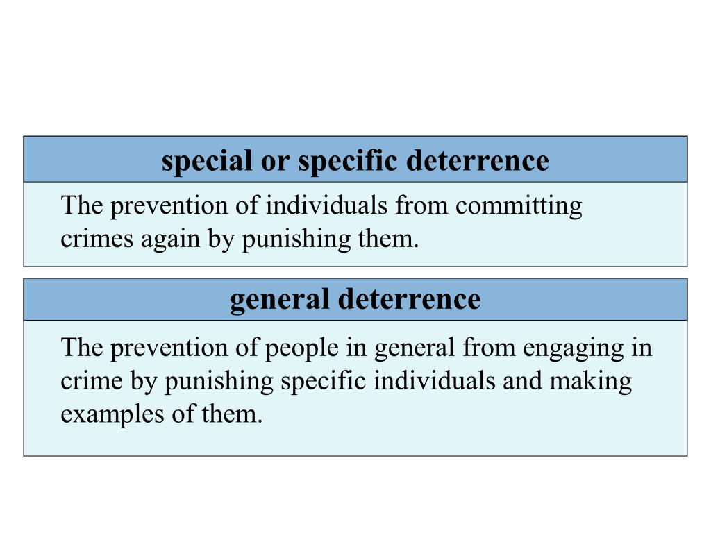 special or specific deterrence